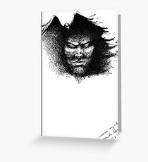 Black thoughts Greeting Card