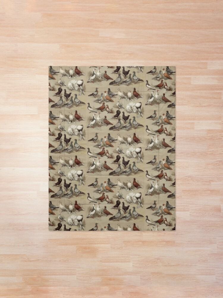 Alternate view of Pigeon Breeds Chart Comforter