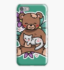 Kitty and a Bear iPhone Case/Skin
