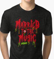 Camiseta de tejido mixto SHINEE casado con la música