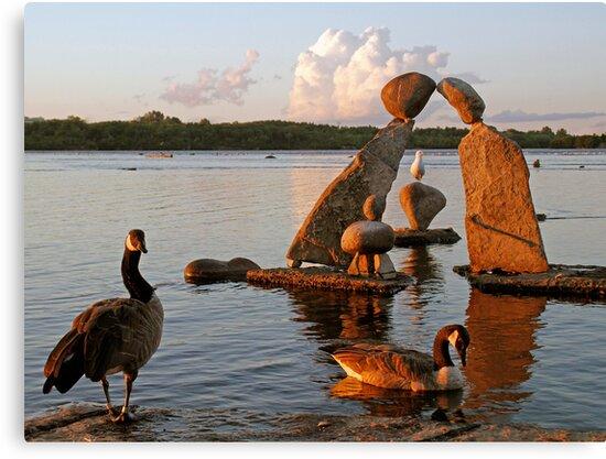 Remic Rapids at Sundown - Ottawa, Ontario by Debbie Pinard