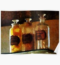 Apothecary Bottles Poster