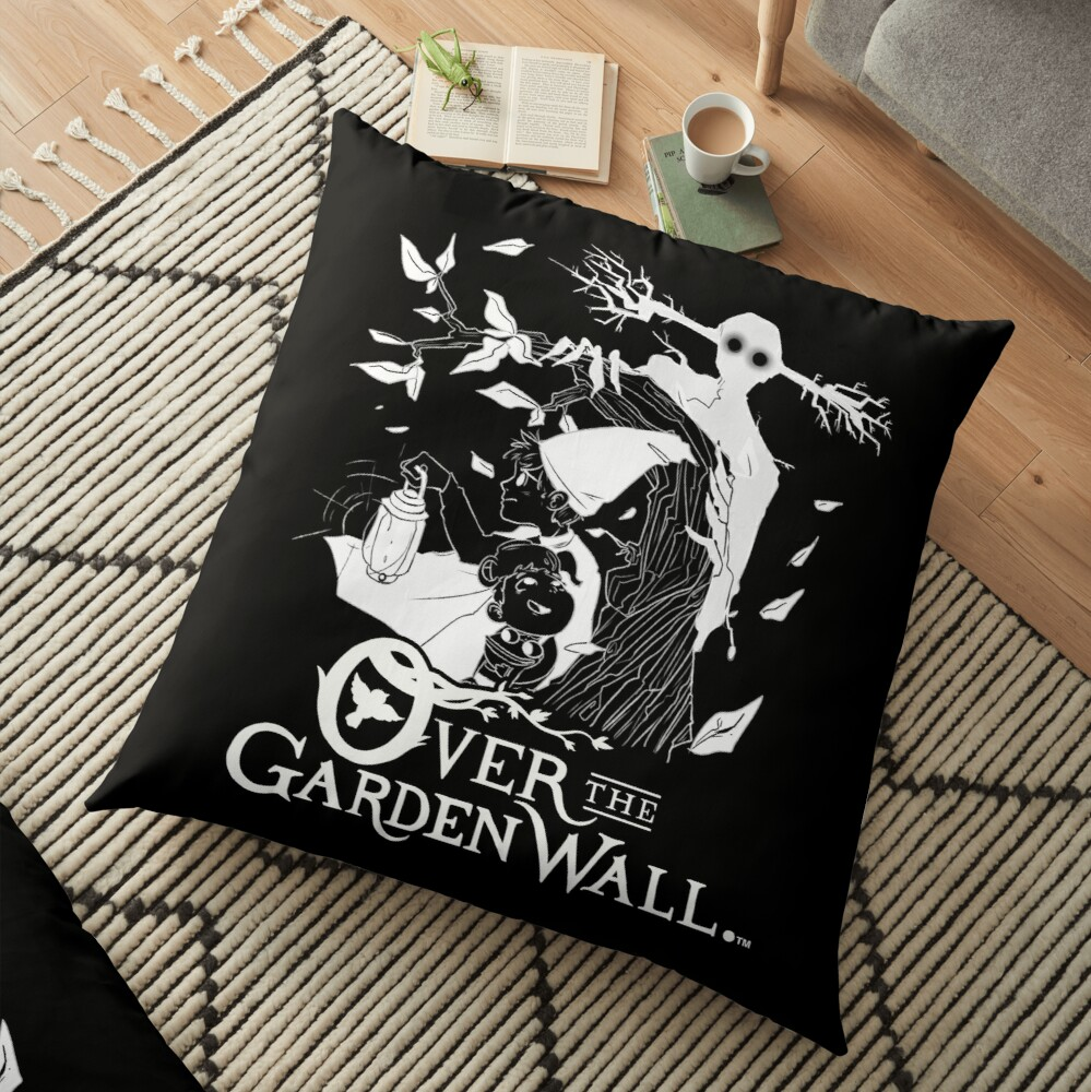 Over the garden wall - Lost in the woods Negative Version Floor Pillow
