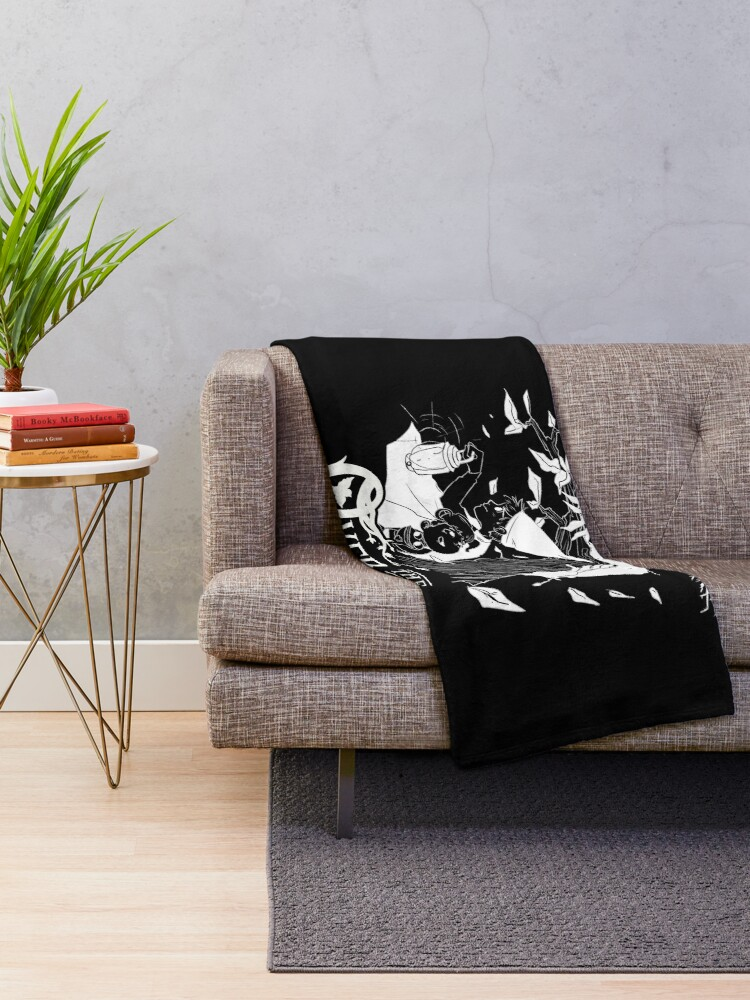 Alternate view of Over the garden wall - Lost in the woods Negative Version Throw Blanket