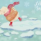 "Polar Bear skating – ""Let It Snow"" by kimfleming"