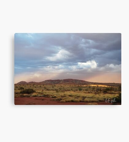 """The land of red dust plains"" Canvas Print"