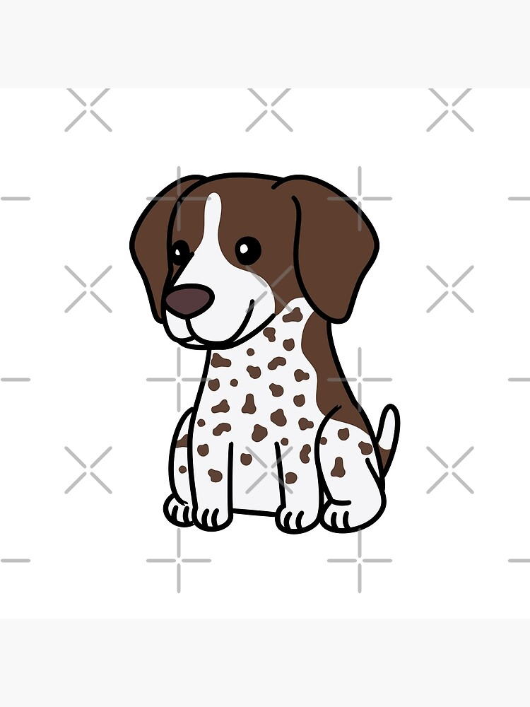 German Shorthaired Pointer Cute Cartoon by ilovepaws