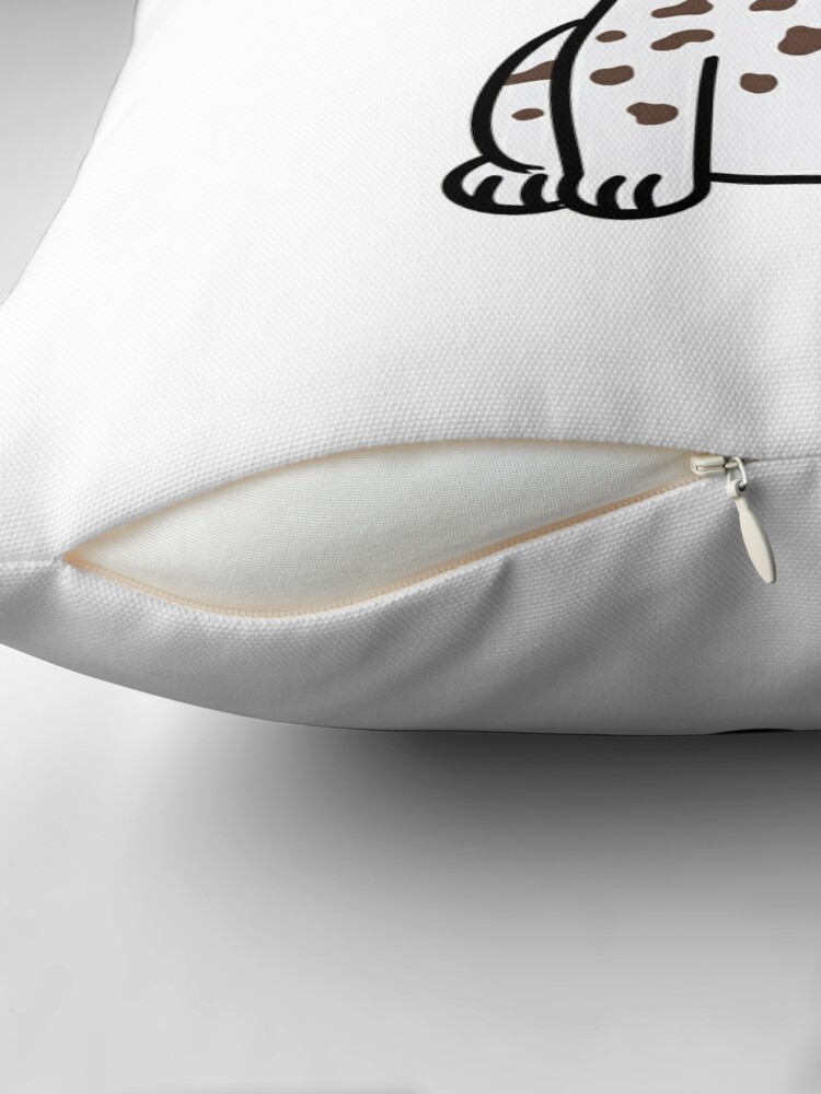 Alternate view of German Shorthaired Pointer Cute Cartoon Throw Pillow