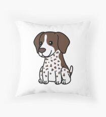 German Shorthaired Pointer Cute Cartoon Throw Pillow