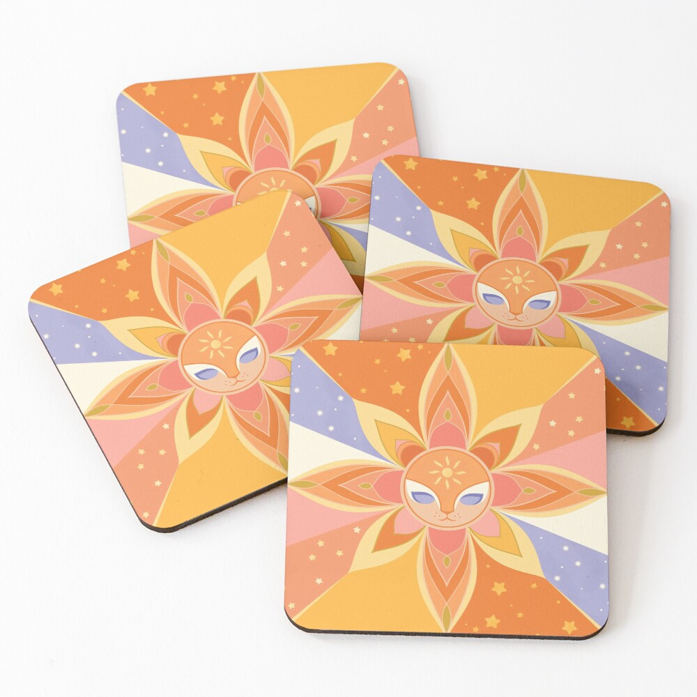 Sun Worshipper Coasters (Set of 4)