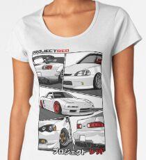 Camiseta premium de cuello ancho [R] aw Power Champion White Edition