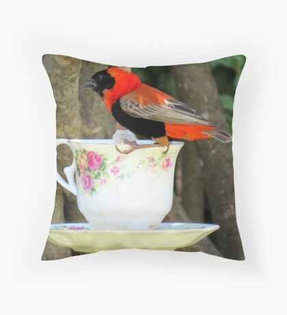 """""""Please join me for high tea?"""" Throw Pillow"""