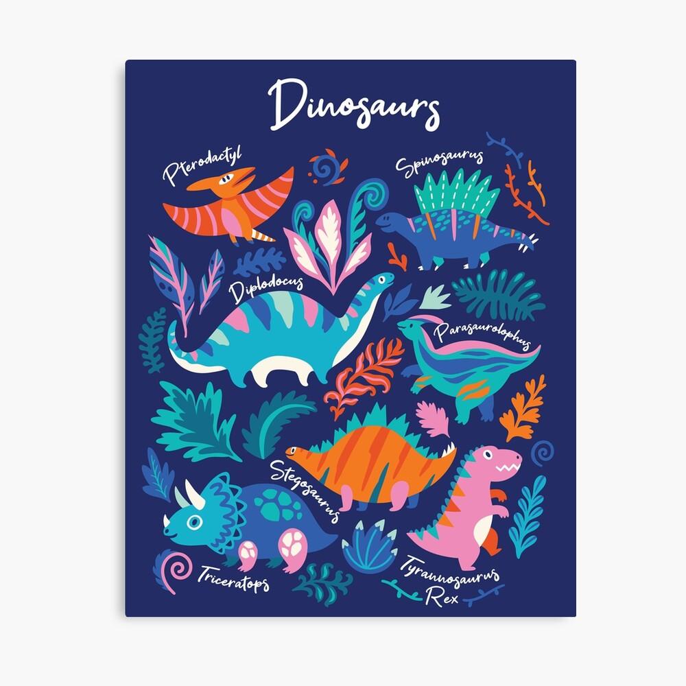 Dino team 1 Canvas Print
