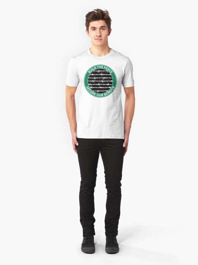 Alternate view of Build The Fence Slim Fit T-Shirt