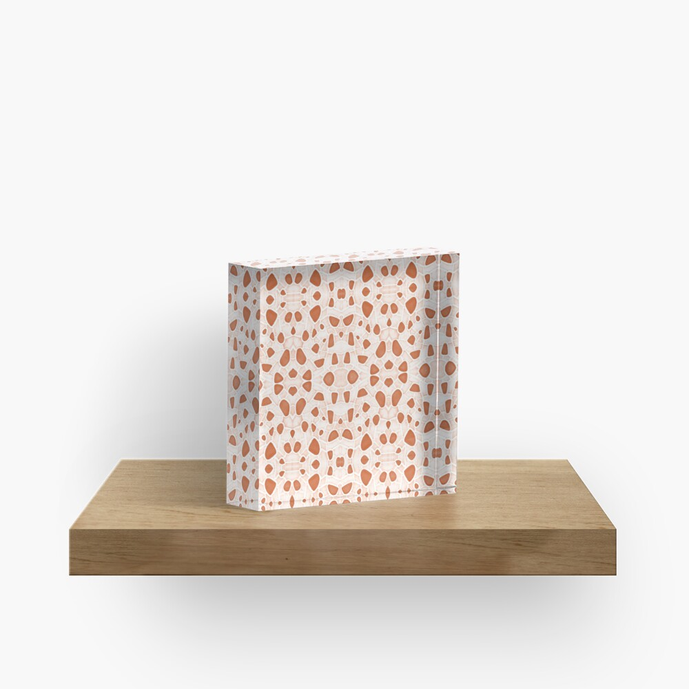 Moroccan Clay Zellige #redbubble #pattern Acrylic Block