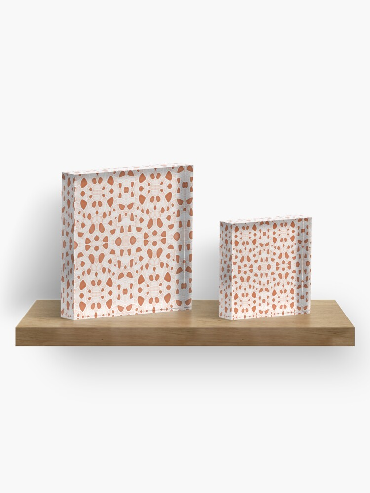 Alternate view of Moroccan Clay Zellige #redbubble #pattern Acrylic Block