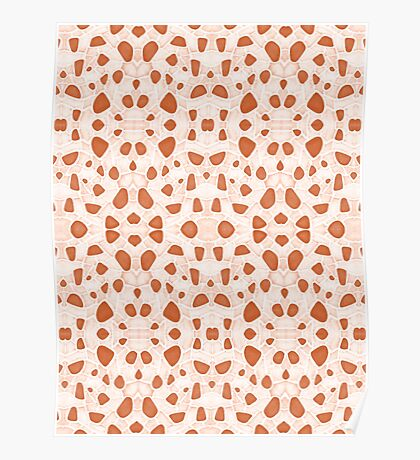 Moroccan Clay Zellige #redbubble #pattern Poster