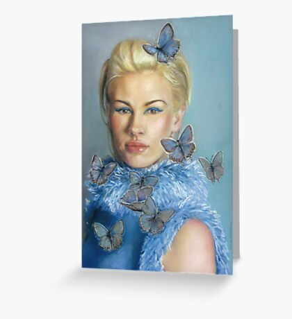 Chelsea  with butterflies Greeting Card