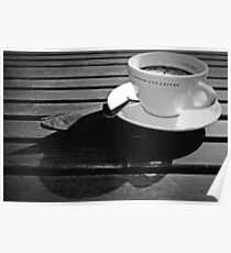 Coffee Cup Shadows Poster