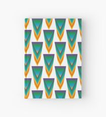 Geometric shape in the colors of the rainbow Hardcover Journal
