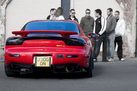 RX7 with Onlookers by chris wood