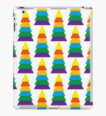 Geometric triangle shape in the colors of the rainbow iPad Case/Skin
