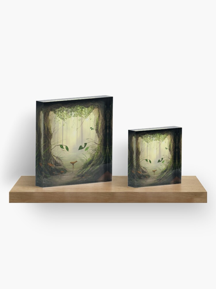 Alternate view of When the cat's away Acrylic Block