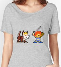 Thundercats 8bit Lion-O and Snarf no text Women's Relaxed Fit T-Shirt