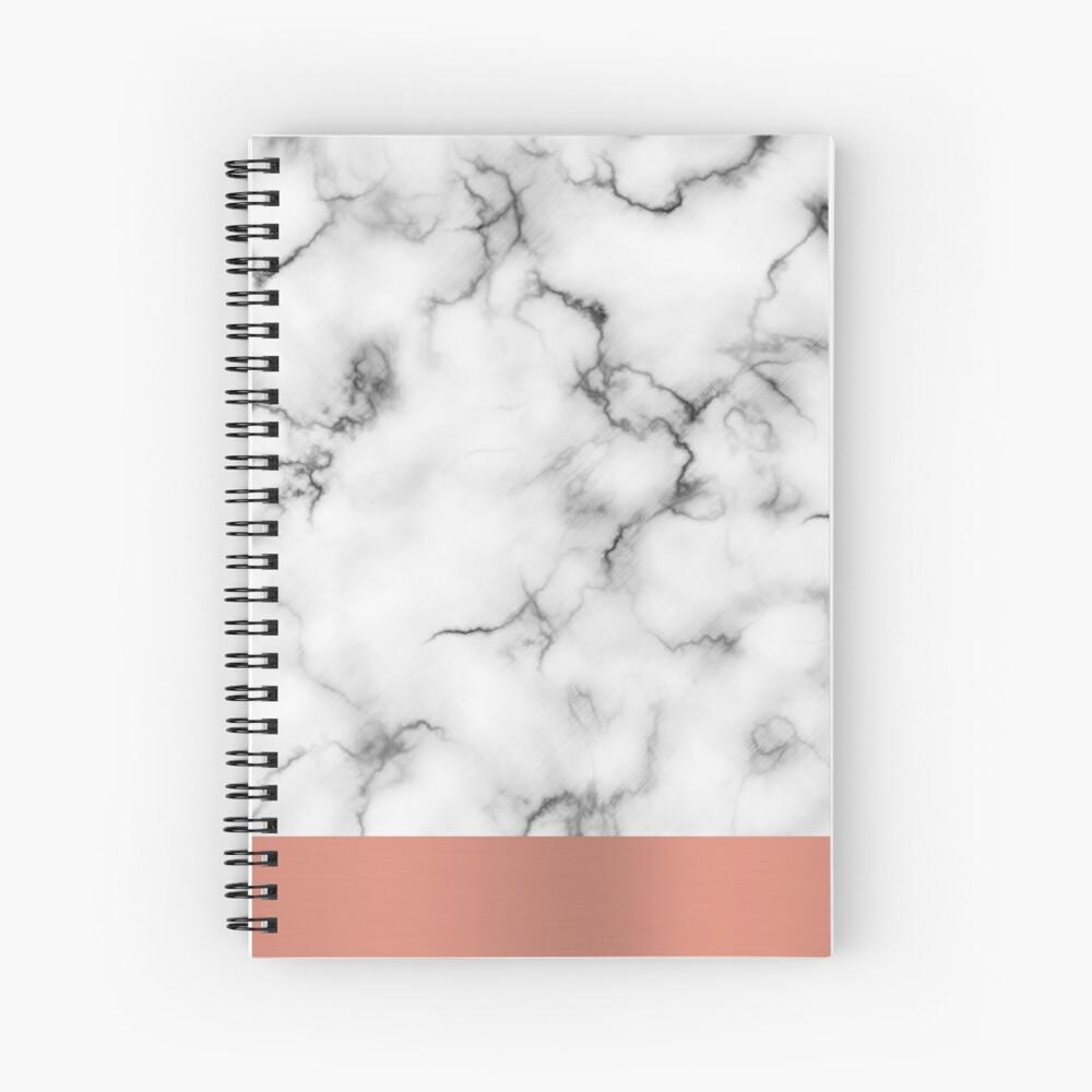 Mármol y cobre Cuaderno de espiral