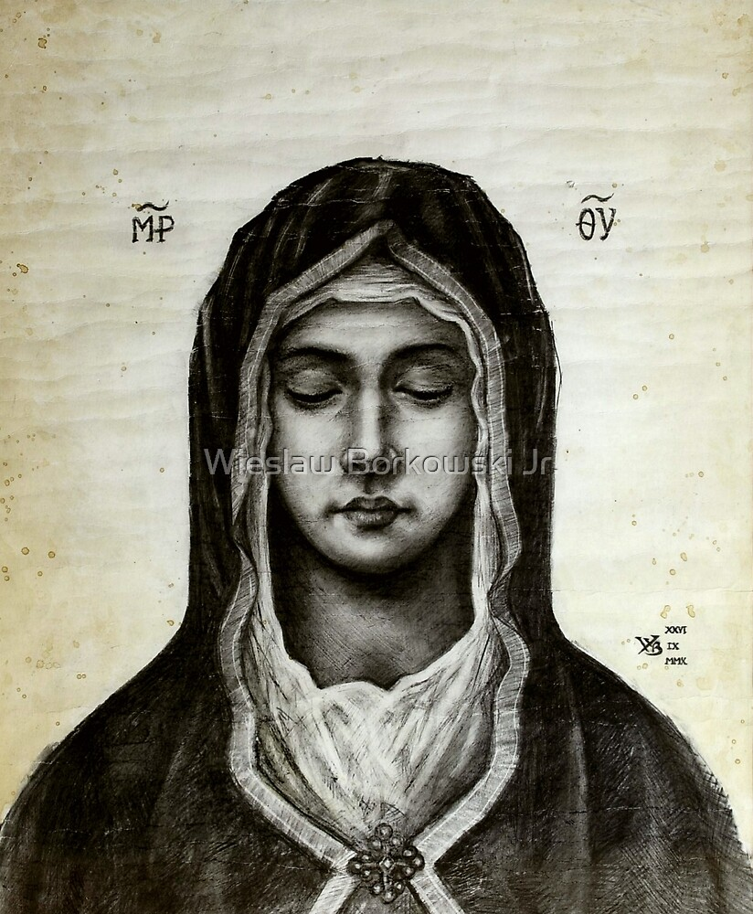 Theotokos - Mother of God by Wieslaw Borkowski Jr.