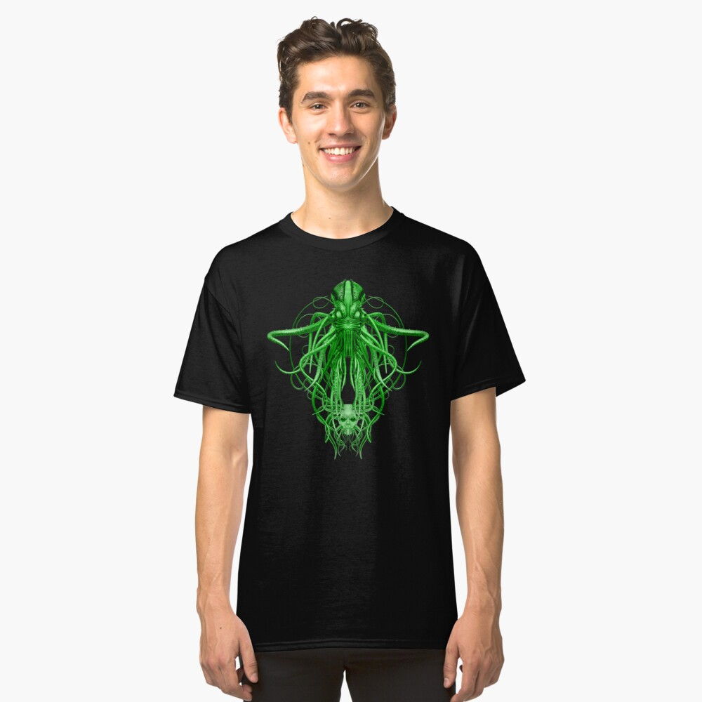 Cthulhu in green Classic T-Shirt Front