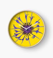 Thin blue flames Clock
