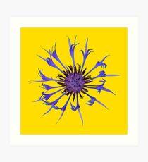 Thin blue flames Art Print