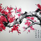 Plum blossoms by Wieslaw Borkowski Jr.