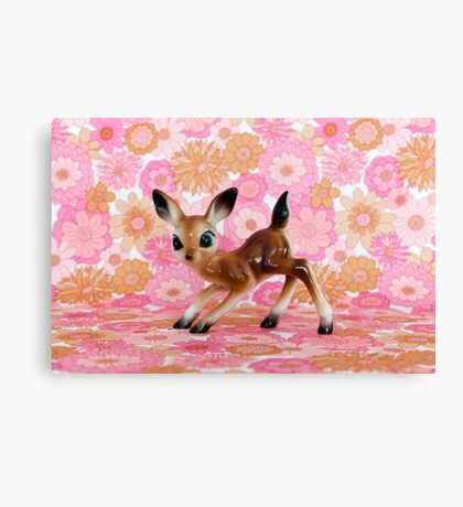 Kitsch Deer Canvas Print