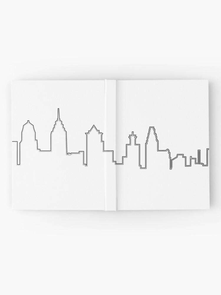 Vista alternativa de Cuaderno de tapa dura Filadelfia Filadelfia Skyline