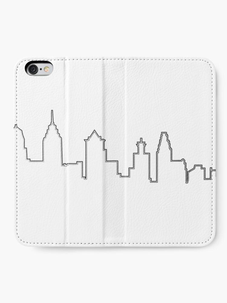 Vista alternativa de Fundas tarjetero para iPhone Filadelfia Filadelfia Skyline