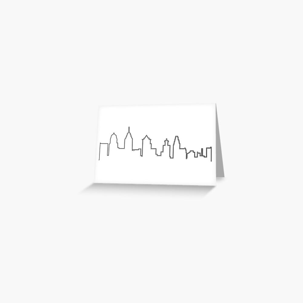 Filadelfia Filadelfia Skyline Tarjetas de felicitación