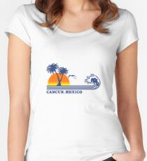 Cancun mexico geek funny nerd Women's Fitted Scoop T-Shirt