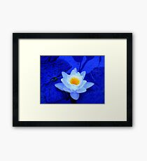 The Peak of Perfection in Blue Framed Print