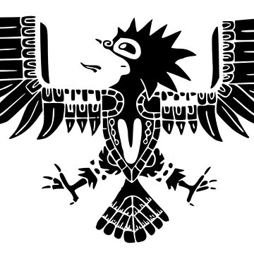 Mayan Eagle - Black by Moppo