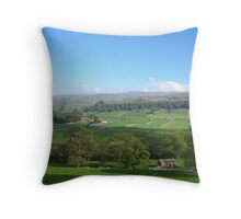 Wharfedale, North Yorkshire Throw Pillow