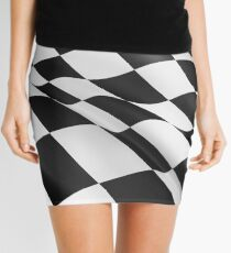 Wavy checkered flag design Mini Skirt