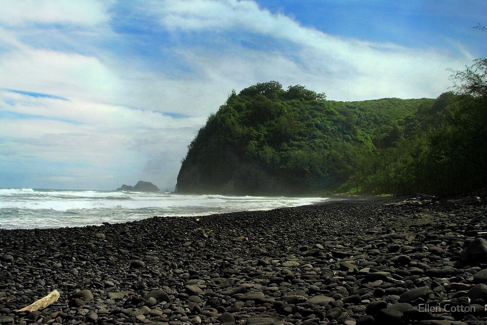 Pololu Valley Beach by Ellen Cotton