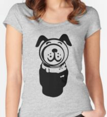 Fisher price little people vintage retro dog geek funny nerd Women's Fitted Scoop T-Shirt