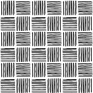 Black Sideways Stripes - Mudcloth Tribal Pattern by blueskywhimsy