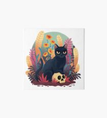 Skull kitty Art Board Print