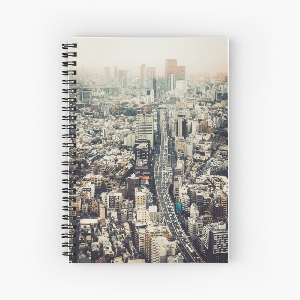 From Shibuya to Roppongi Spiral Notebook