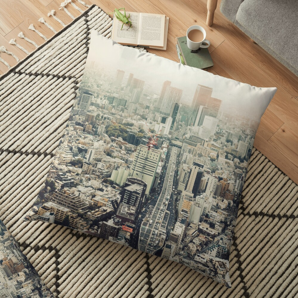 From Shibuya to Roppongi Floor Pillow