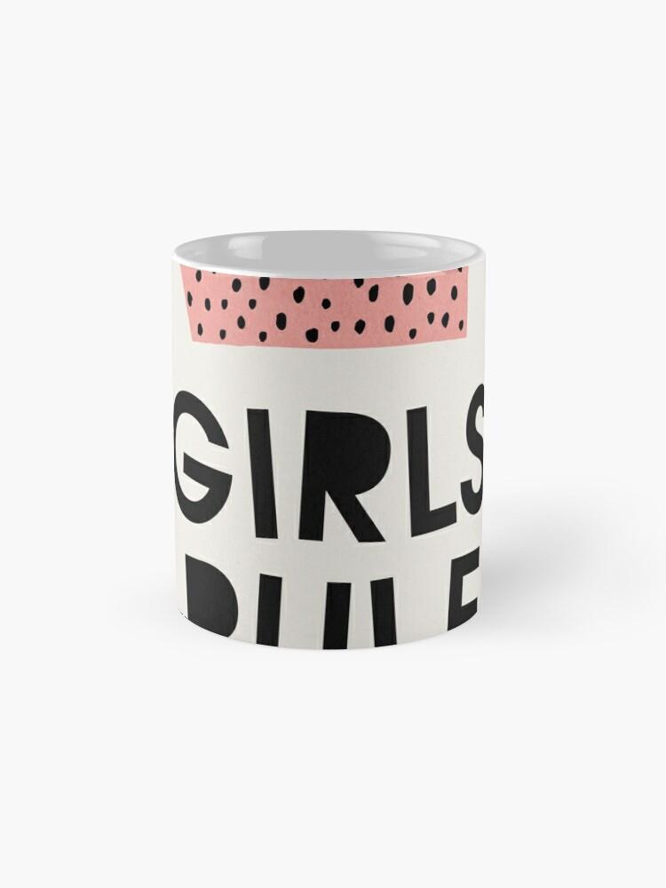 Alternative Ansicht von Mädchen herrschen, abstrakt, Mitte des Jahrhunderts moderne Kinder Wandkunst, Kinderzimmer Tasse